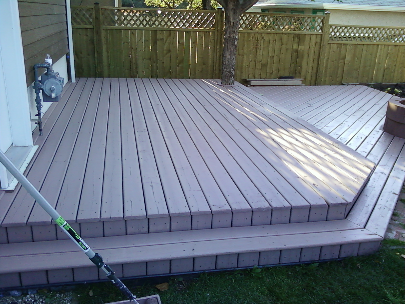 Decks done with solid hide stain duncan ross painting for Painted deck pictures